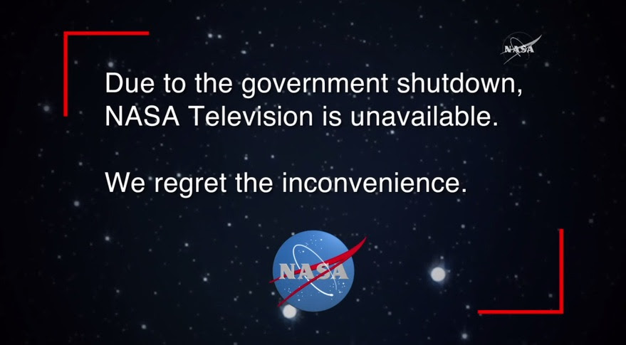NASA TV shutdown