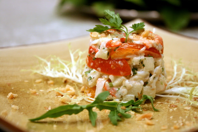 Salad of Hokkaido Crabmeat with Apple and Walnut