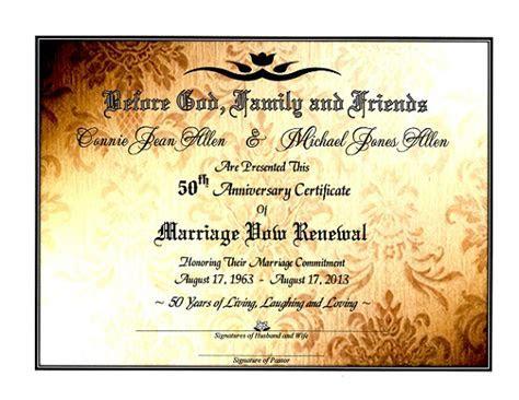 'Sacred Golden Shimmer' Marriage Vow Renewal Certificate