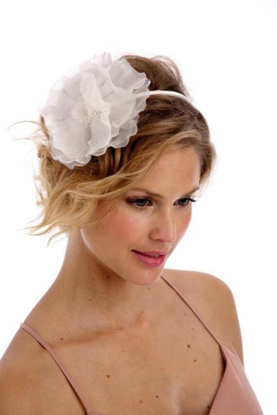 087 - Silk Organza Dahlia Headband