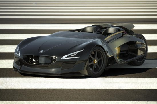Peugeot EX1 este noul concept al francezilor, o mixtura intre masinile sport si motociclete