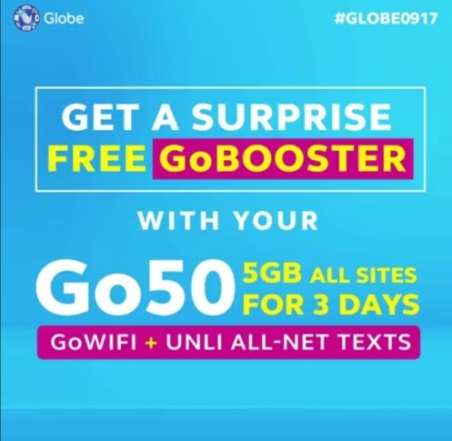 Globe #GDayEveryDay Surprise: Go50 + Free GoBOOSTER! | #Globe0917