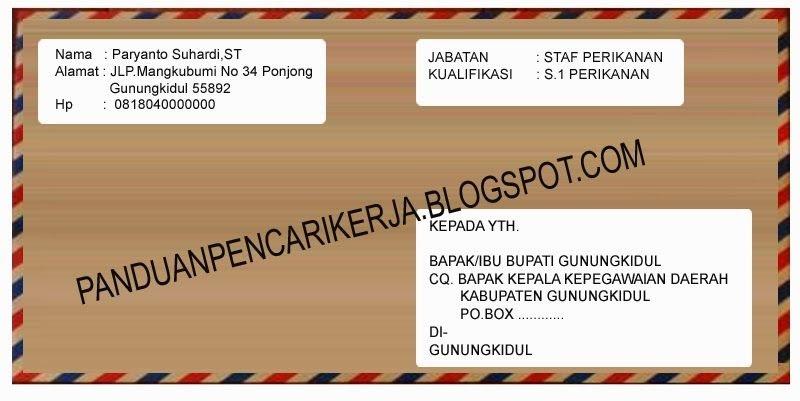 8 Contoh Kirim Surat Lamaran Kerja Via Pos - 8000+ Contoh ...