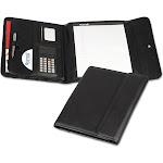 Samsill Professional - Tri-fold padfolio - Letter - black - vinyl, nappa leather