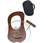 Dragon Rosewood lyre harp 10 metal strings