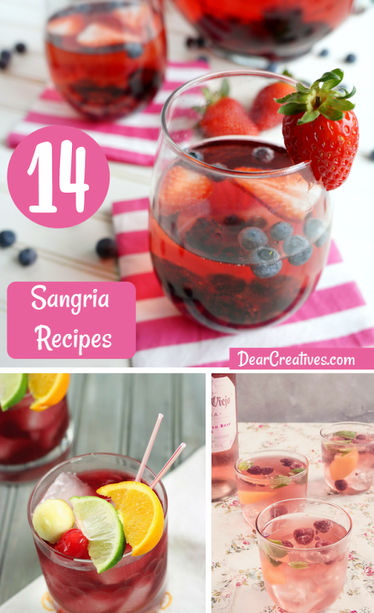 Sangria Recipes - 14 of The Yummiest Must Make Sangria's!