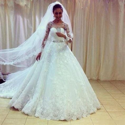 Elegant Vestidos De Noiva 2016 Plus Size Lace Wedding