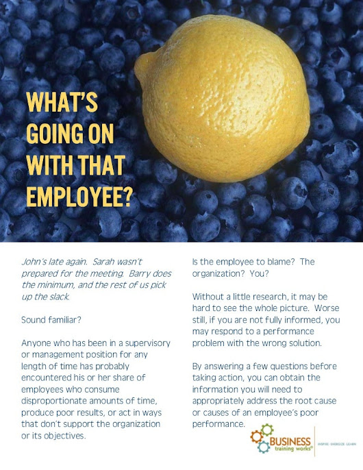 What's Going on with that Employee?  Questions to Ask Before Delive...