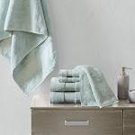 Madison Park Signature Turkish Cotton 6 Piece Bath Towel Set Seafoam