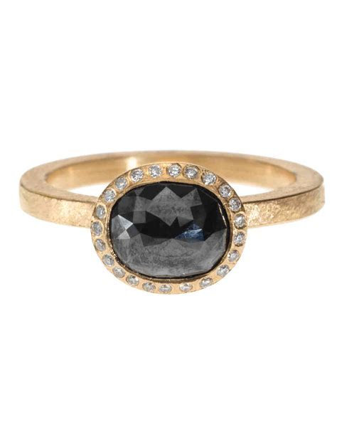 The New LBD: The Little Black Diamond Engagement Ring