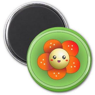 Kawaii Cute Happy Flower Magnet magnet