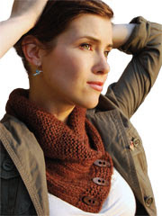 Shawl Collared Cowl Knit Pattern