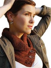 Shawl Collared Cowl Knit Pattern