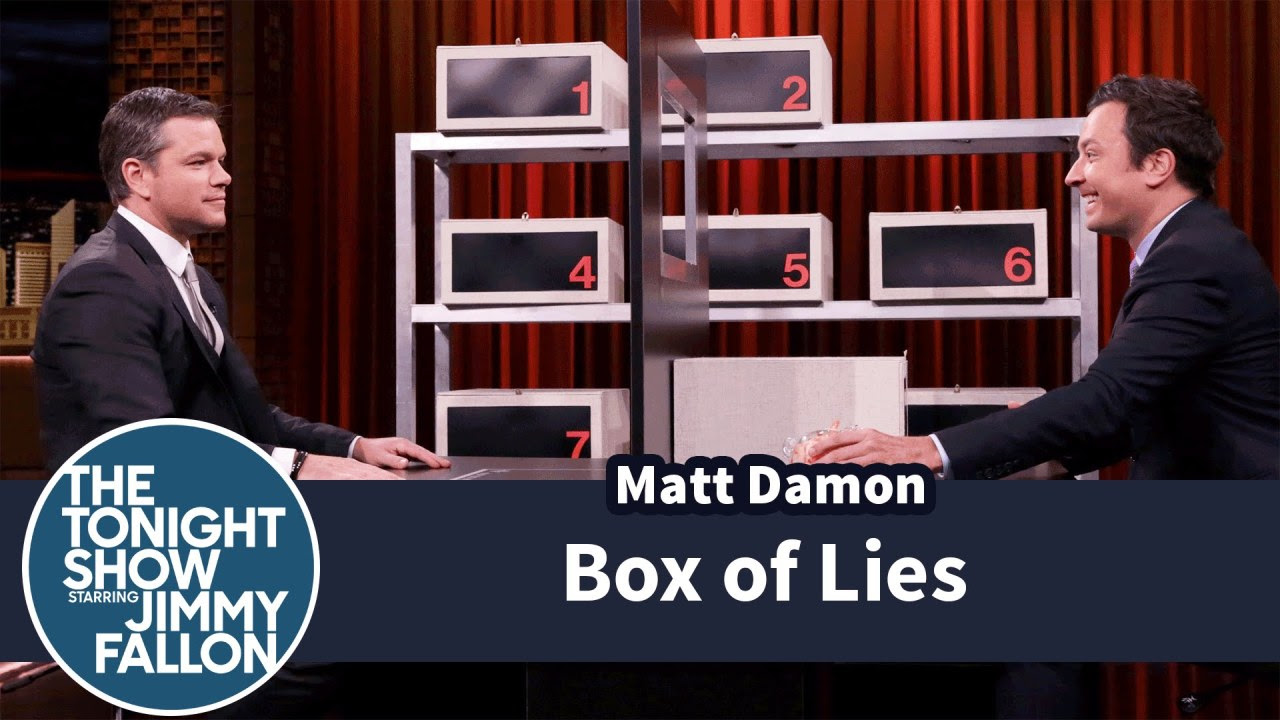 Popular Right Now l Box of Lies with Matt Damon Popular on YouTube - Box of Lies with Matt Damon via Popular Right Now By The Tonight Show Starring Jimmy Fallon July 28, 2016 at 11:57AM
