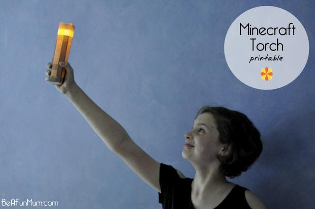 Minecraft Torch Printable by Be a Fun Mum