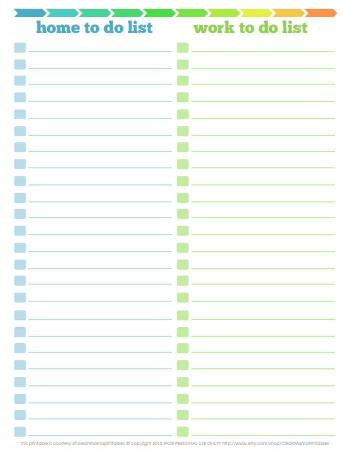 3 Free Printable To Do Lists to Jumpstart Your Productivity ...