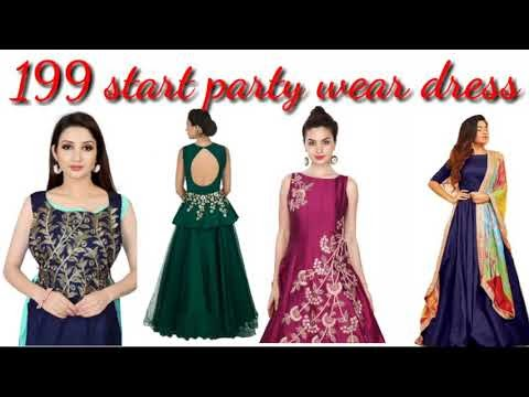 How to get Party wear gown for ladies start 199 only. Amazon shop now.