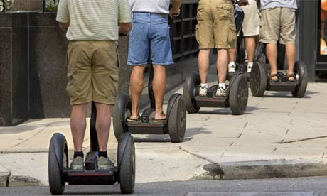 Tourists in Washington DC move about the city's historical sites aboard the Segway Personal Transporter. Photograph: AP/J Scott Applewhite