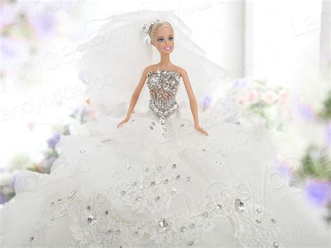 barbie bridal wedding gowns   gorgeous ball gown barbie