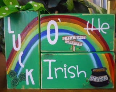 St. Patricks Decor Word Blocks