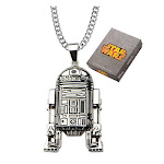 Star Wars R2D2 Stainless Steel Pendant Necklace