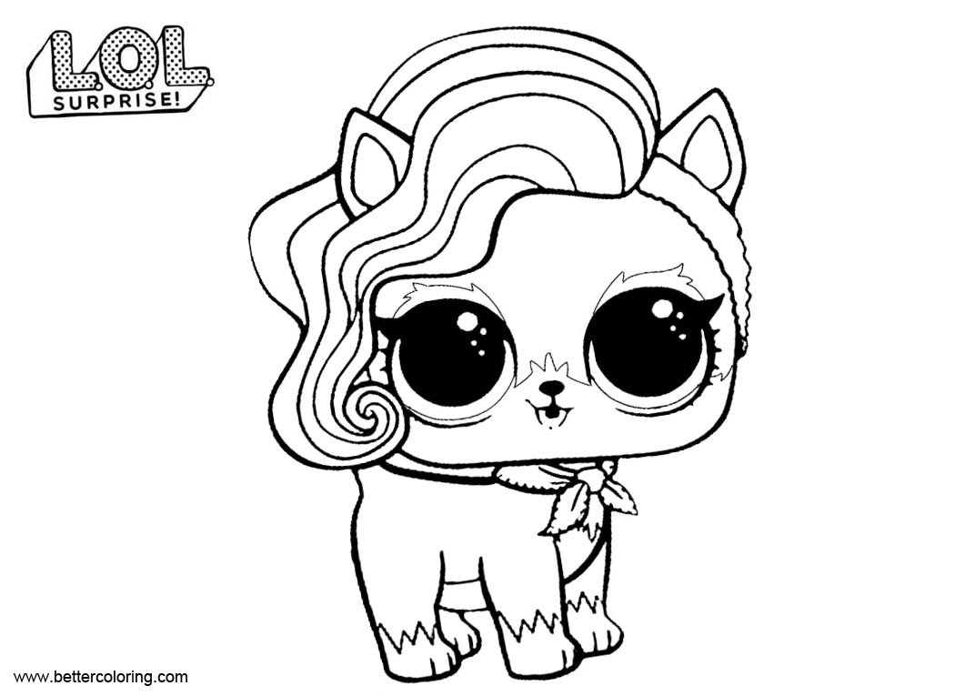 Comfortable Lol Pets Coloring Pages Free Printable Coloring Pages