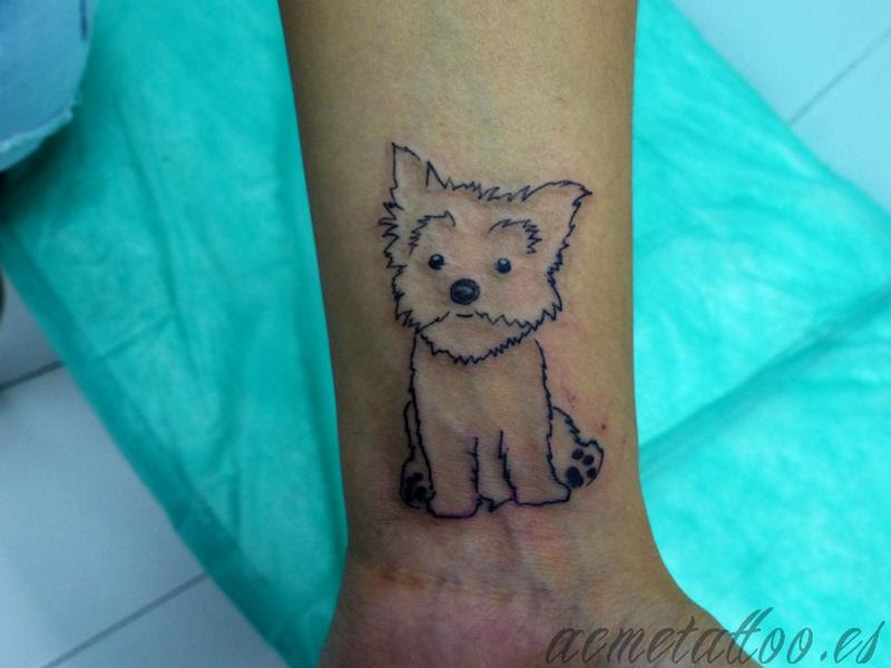 Silueta Perro Dog Fox Terrier Acme Tattoo Tatuaje Tatuajes Online