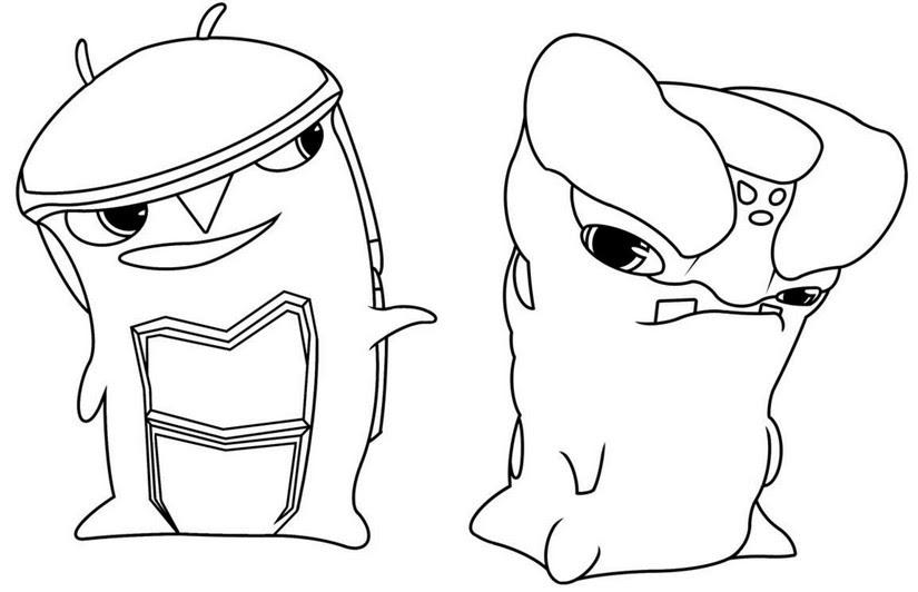 Dibujo Para Colorear Slugterra Crystalyd Forgesmelter 1