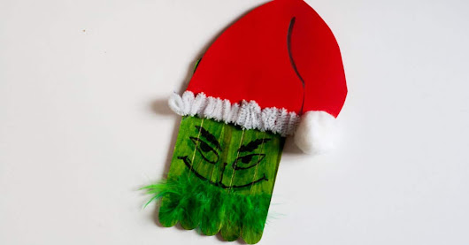 How the Grinch Stole Christmas DIY Popsicle Decoration