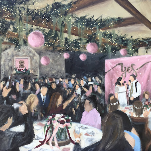 Live Wedding Painting at the Clifton Barn in Olde Avon Village