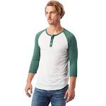 Alternative Men's Eco-Jersey 3/4-Sleeve Raglan Henley