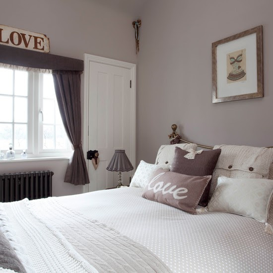 Tiny bedroom in mushroom grey | Small bedroom ideas ...
