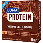 LUNA Protein Chocolate Salted Caramel Nutrition Bars - 6ct