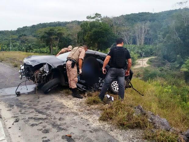 SC-417, Itapoá (Foto: PM Guaratuba/Divulgação)