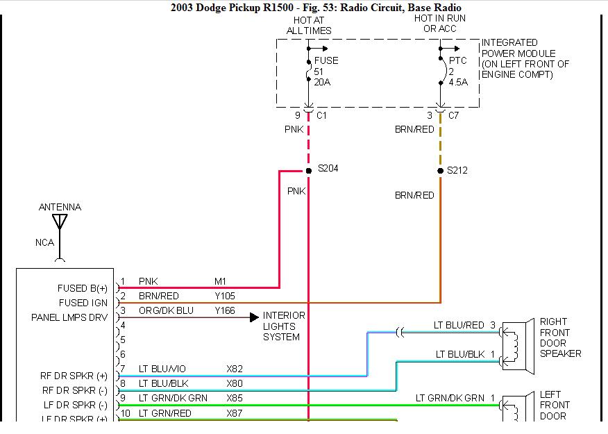 2003 Dodge Ram Radio Wiring Diagram - Wiring Diagram