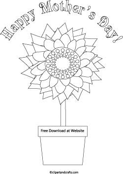 Mother S Day Flowers Coloring Page
