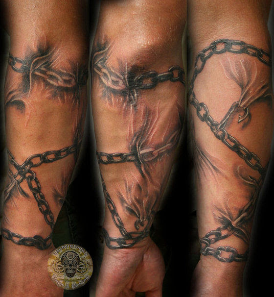 Cross Chain Tattoos On Wrist Photo 8 2017 Real Photo Pictures