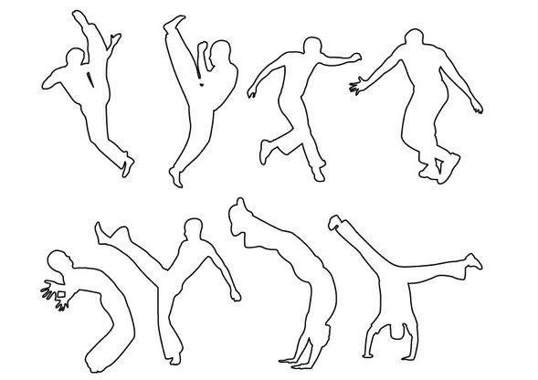 Coloriage Coupe Du Monde Mouvements De Capoeira Coloriage Coupe