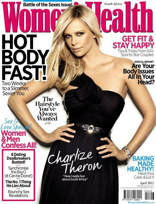 Women's Health South Africa - April 2012, Charlize Theron