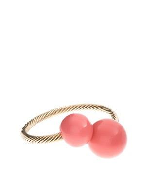 Image 1 - ASOS - Bracelet torsadé en métal avec boules oversize