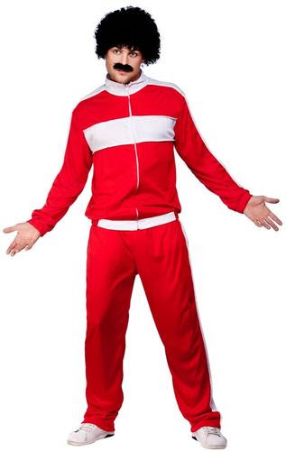 Athlete Trackie Mens Fancy Dress 1980s Scouser Tracksuit Adults Costume Outfits  eBay