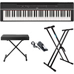Yamaha P121B 73-Key Piano (Black) with Knox Gear Bench, Stand and Sustain Pedal