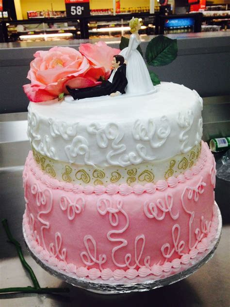 Two tier wedding cake. Walmart   Lizzy's cake   Pinterest