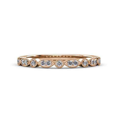 Diamond Marquise and Dot Wedding Band (SI2 I1, G H) 0.13