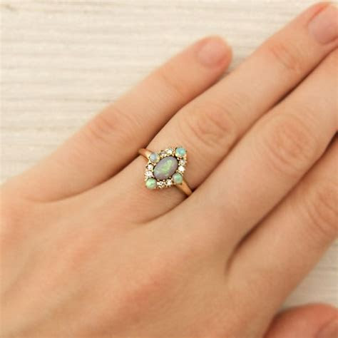 Vintage Gold and Opal Ring   New York Vintage & Antique