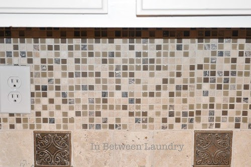 in between laundry tutorial how to install a mosaic tile