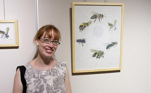 Bee biodiversity exhibit with The Bees