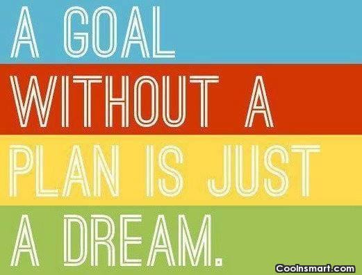 Goal Quote: A goal without a plan is just...