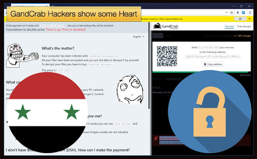 GandCrab Hackers show some Heart