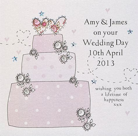 personalised handmade wedding card by eggbert & daisy